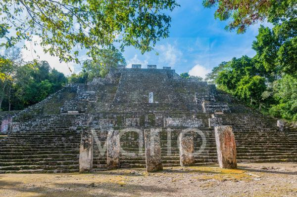 Mexico, Campeche, Ancient Maya temple in Calakmul