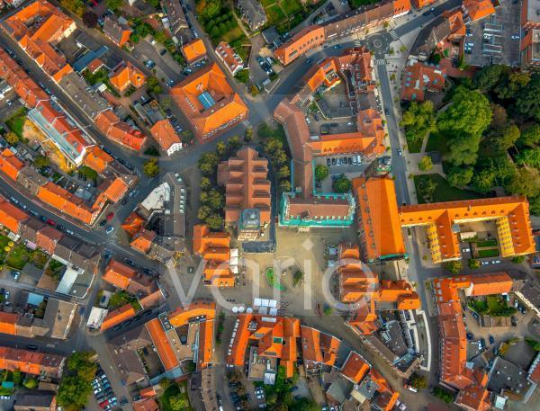 Senkrechtluftbild Altstadtbereich und Innenstadtzentrum in Steinfurt im Bundesland Nordrhein-Westfalen, Deutschland