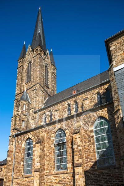 Katholische Pfarrkirche St. Suitbertus, Neugotik, Heiligenhaus, Bergisches Land, Niederbergisches Land, Nordrhein-Westfalen