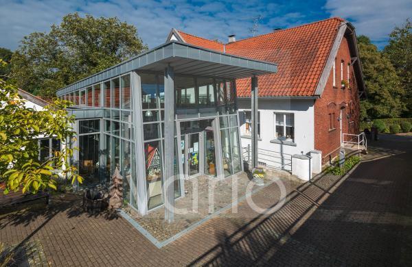 Museum Abtskueche, Heimatmuseum, ehemals Landschule, Museumseingang, Heiligenhaus, Bergisches Land, Niederbergisches Land, Nordrhein-Westfalen