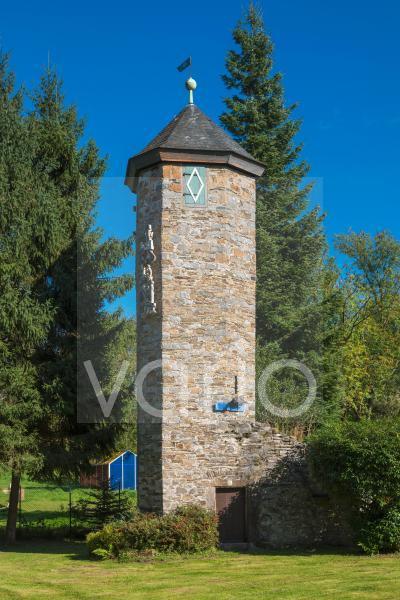 Alter Wehrturm in Abtskueche, ehemals Schloss Hetterscheidt, Heiligenhaus, Bergisches Land, Niederbergisches Land, Nordrhein-Westfalen