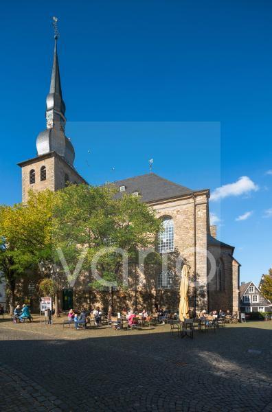 Alte Evangelische Kirche in Langenberg, Barock, Velbert, Bergisches Land, Niederbergisches Land, Nordrhein-Westfalen