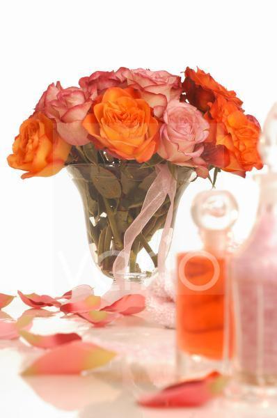 Wellness Strauß mit Rosen